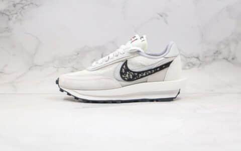 耐克Sacai x Dior x Nike LVD Waffle Daybreak纯原版本迪奥联名华夫跑鞋灰黑色原材打造区别市面通货 货号:CN8898-002