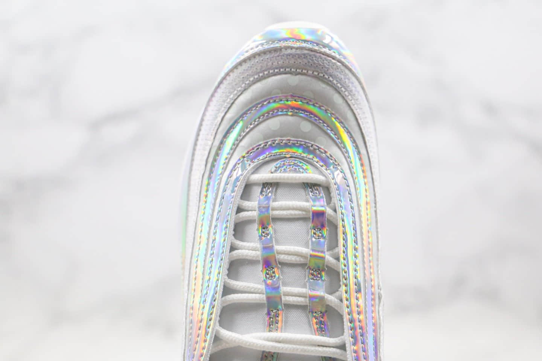 耐克Nike Air Max 97 Opalescent纯原版本子弹头气垫鞋珍珠炫彩配色内置全掌气垫正确鞋面卡色 货号:CU8872-196