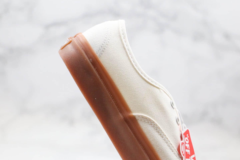 万斯Vans authentic公司级版本安纳海姆生胶帆布奶油色原厂硫化大底原盒原标