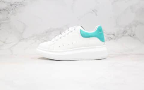 亚历山大Alexander McQueen sole sneakers纯原版本麦昆小白鞋薄荷绿尾原盒配件齐全正确牛皮头层鞋面