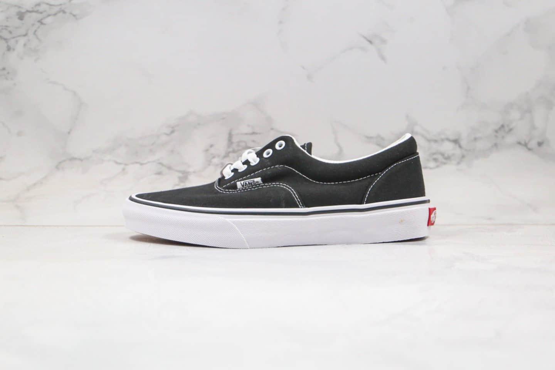 万斯Vans ERA低帮黑白经典款帆布鞋内置钢