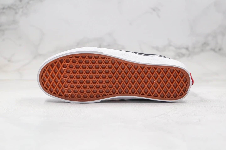 万斯Vans ERA公司级版本低帮黑白经典款帆布鞋原盒原标内置钢印