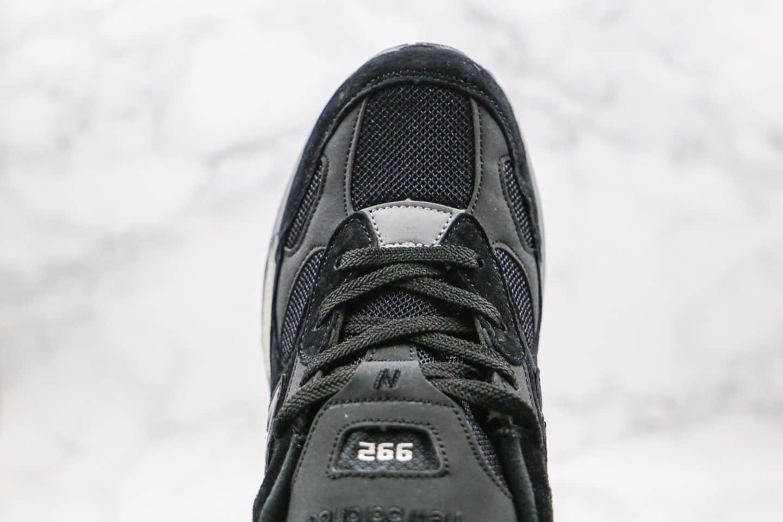 新百伦New Balance Made in USA M992纯原版本美产血统NB992老爹鞋黑米白银灰原楦头纸板打造正确猪八材质 货号:W992BL