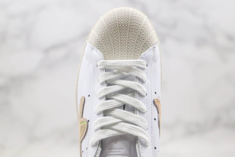 阿迪达斯adidas Superstar Shmoo x Mark Gonzales纯原版本联名款三叶草贝壳头和平鸽子米白色原鞋开模一比一打造 货号:FW8029