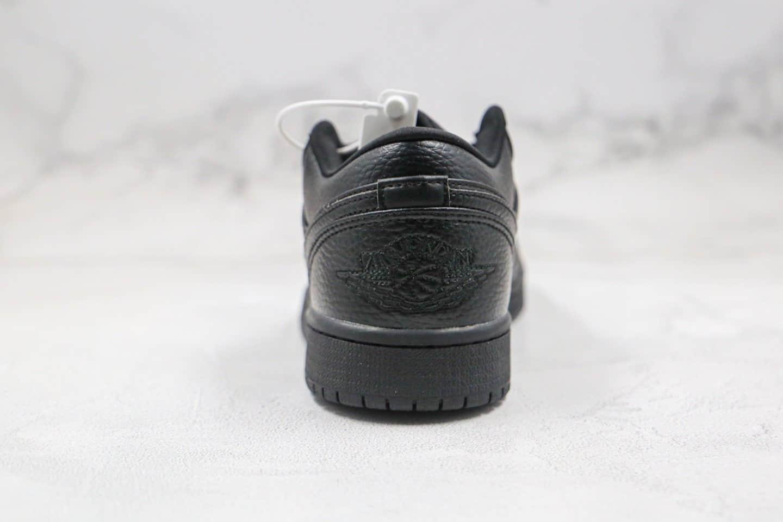 乔丹Air Jordan 1 Low纯原版本低帮AJ1黑武士配色内置气垫正确荔枝纹头层皮 货号:553558-091