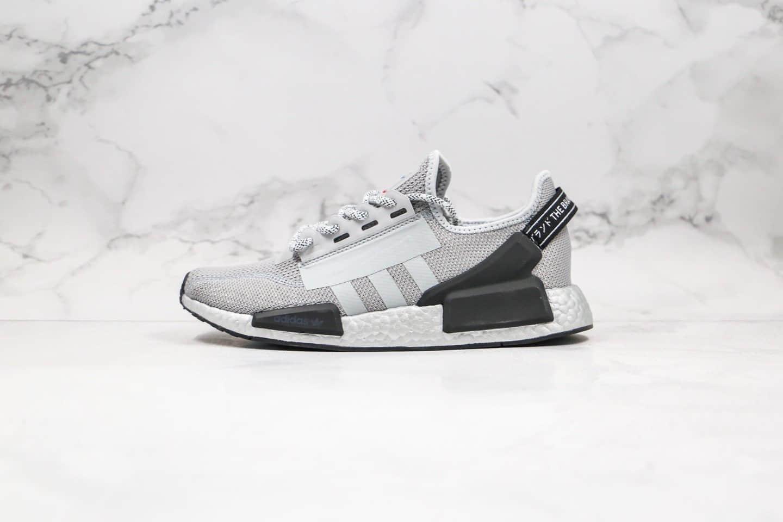 阿迪达斯Adidas NMD_R1 Boost纯原版本爆米花跑鞋NMD灰色原厂黑盒原楦头纸板打造 货号:FV9066