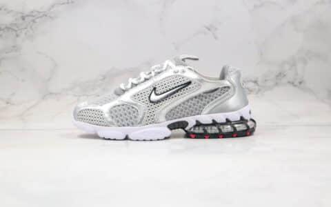 耐克Nike Air Zoom Spiridon Cage 2 x Stussy纯原版本斯图西联名款复古老爹鞋银色内置气垫原楦头纸板打造 货号:CD3613-001