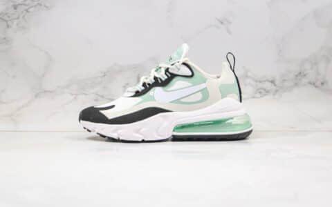 耐克Nike Air Max 270V2 React纯原版本半掌气垫跑步鞋米白绿黑色内置真小潘气垫原盒原标 货号:CI3899-001
