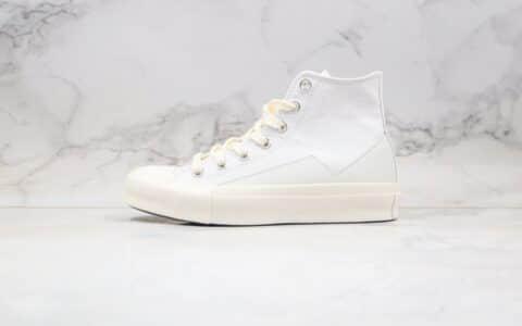 匡威Converse x Matnut公司级版本联名款高帮小花边白色帆布鞋原厂硫化大底原代工厂出品