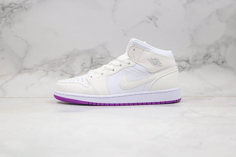 乔丹Air Jordan MID纯原版本中帮AJ1变色龙白粉色原盒原标原楦头纸板打造 货号: