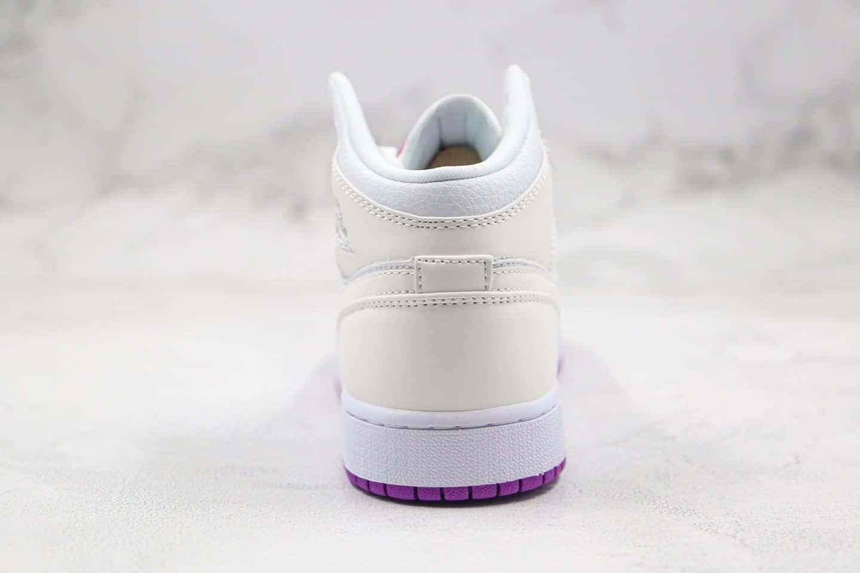 乔丹Air Jordan MID纯原版本中帮AJ1变色龙白粉色原盒原标原楦头纸板打造 货号:555112-id