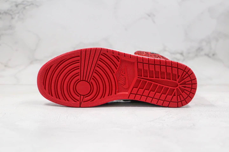 乔丹Air Jordan 1 Chicago纯原版本高帮AJ1外科医生联名款芝加哥闪耀锆石闪白红色原盒原标 货号:CK5566-610