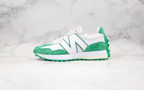 纯原版本NB327复古慢跑鞋绿色出货
