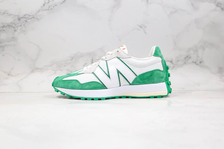 新百伦New Balance 327纯原版本复古慢跑鞋绿色原盒原标原楦头纸板打造 货号:WS327CBD