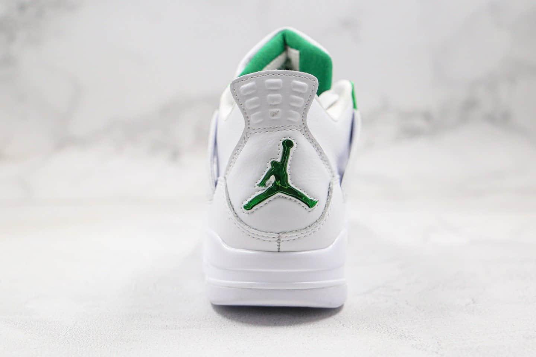 乔丹Air Jordan 4 Purple Metallic纯原版本白绿色AJ4篮球鞋正确头层皮革鞋面 货号:CT8527-113