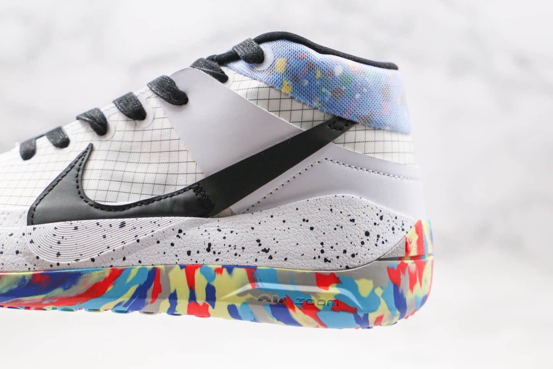 耐克Nike KD13 EP纯原版本杜兰特13代篮球鞋白彩虹配色内置气垫支持实战 货号:CI9949-001