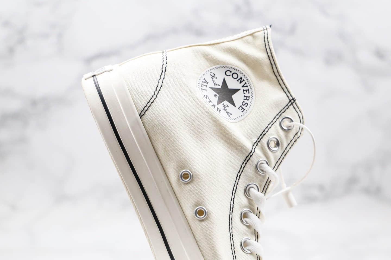 匡威Converse all star stltchlnng hi公司级版本车缝线限定款高帮黑白色原盒原标原楦头纸板打造