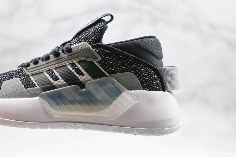 阿迪达斯Adidas neo PLAY9TIS 2.0纯原版本高帮NEO三条纹运动板鞋黑灰色原盒原标一比一开模打造 货号:EF0609