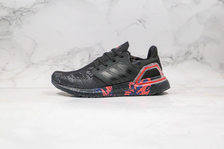 阿迪达斯Adidas UltraBOOST 20 CNY纯原版本爆米花跑鞋UB6.0中国限定福字黑红配色原盒原标 货号:FW5677