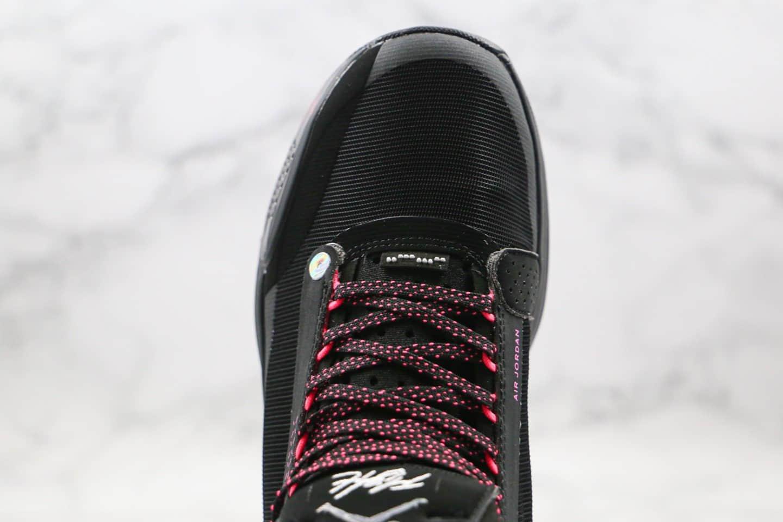 乔丹Air Jordan 34 PF纯原版本黑粉色AJ34实战篮球鞋内置气垫支持实战 货号:BQ3318-013
