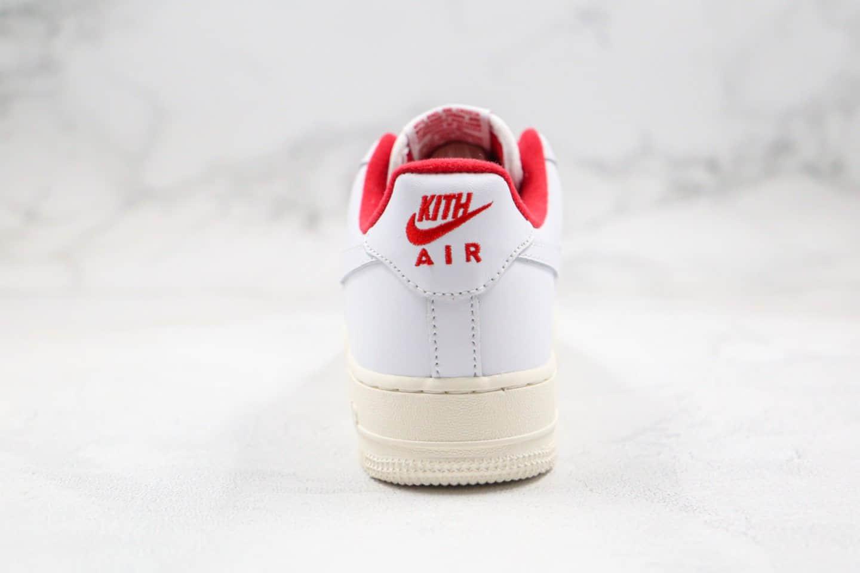 耐克Nike Air Force1 Ronnie Fieg it x KITH纯原版本低帮空军一号日本限定浮雕木盒包装白红色内置气垫原盒配件 货号:CU2980-193