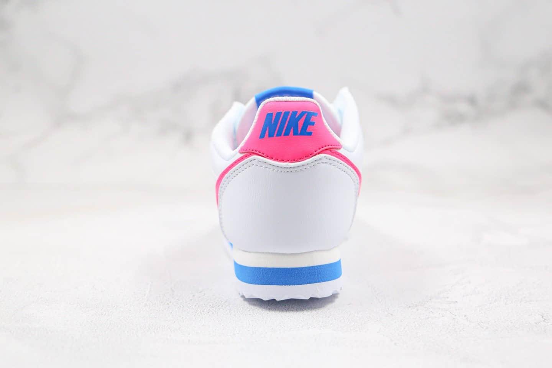 耐克Nike Cortez公司级版本阿甘慢跑鞋南海岸蓝粉色原盒原标区别市面通货版本 货号:904764-107