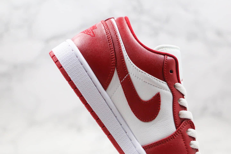 乔丹Air Jordan 1 Low Gym Red纯原版本低帮AJ1体育红白色内置气垫模块原厂头层皮革鞋面 货号:553558-611