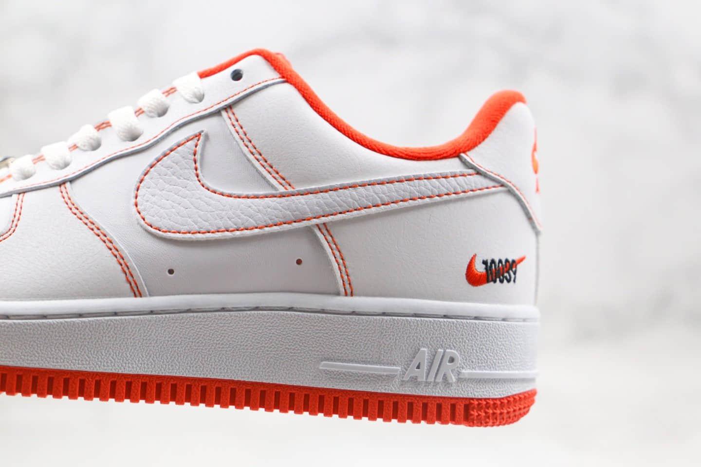 耐克Nike Air Force 1纯原版本低帮空军一号白橙色内置气垫原盒原标 货号:CT2585-100