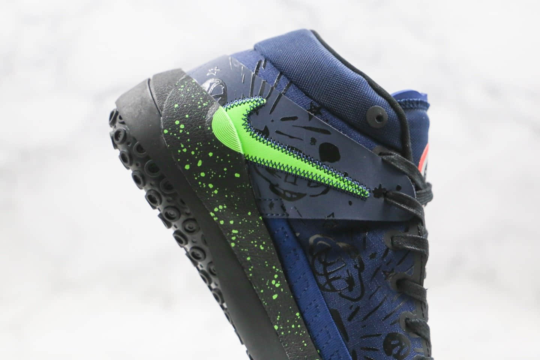 耐克Nike KD 13 Planet of Hoops纯原版本杜兰特13代篮球鞋黑绿色内置气垫支持高强度实战 货号:CI9949-400