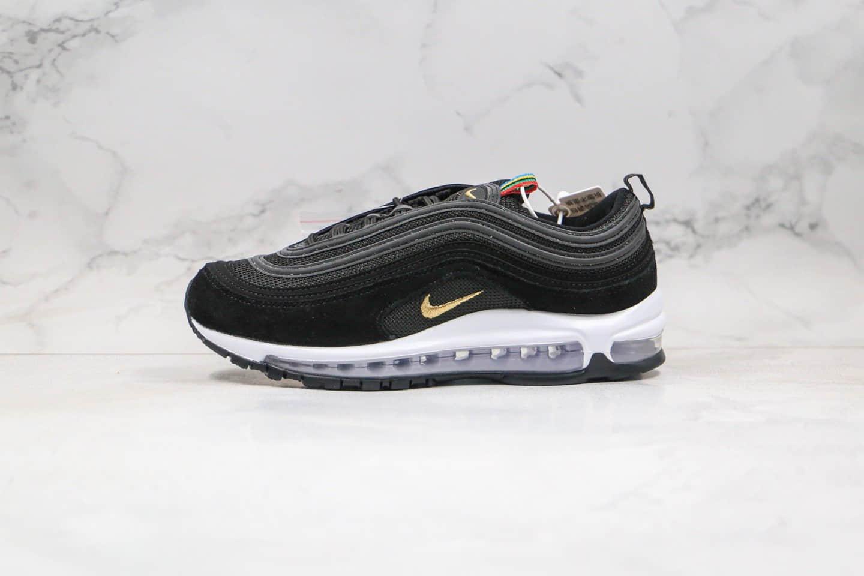 耐克Nike AIR MAX 97纯原版本子弹头气垫鞋Max97黑金白色内置真实小潘气垫 货号: