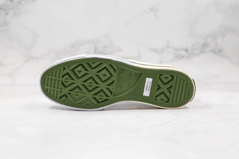匡威Converse Chuck 70S公司级版本低帮解构拼接绿色2020年新款双围条硫化蓝底正确PU硅蓝软中底