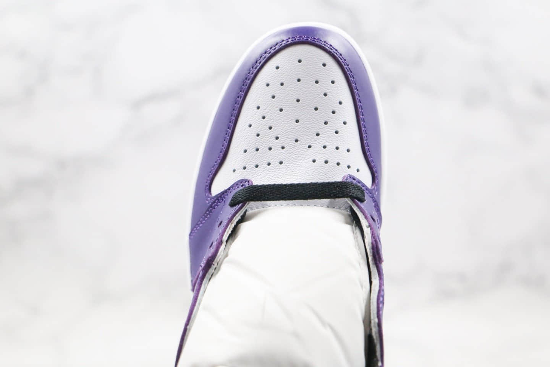 乔丹Air Jordan 1 Retro High OG Gym Purple纯原版本高帮AJ1新紫脚趾恶人紫色原厂头层皮革鞋面正确后跟定型 货号:555088-500