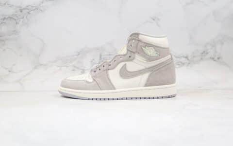 乔丹Air Jordan 1纯原版本高帮AJ1香芋灰色麂皮原厂鞋面材质正确后跟定型 货号:AH7389-101