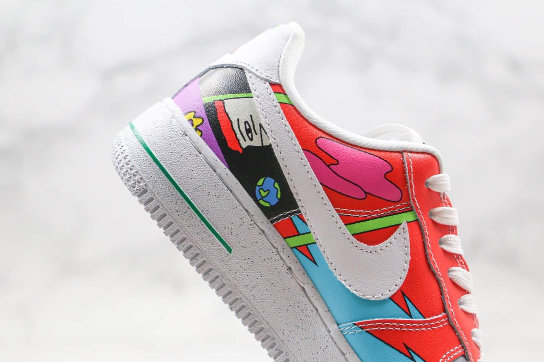 耐克Ruohan Wang x Nike Air Force 1 Low(2020)华人艺术家联名款插画师纯原版本低帮空军一号彩绘涂鸦内置气垫 货号:CZ3990-900