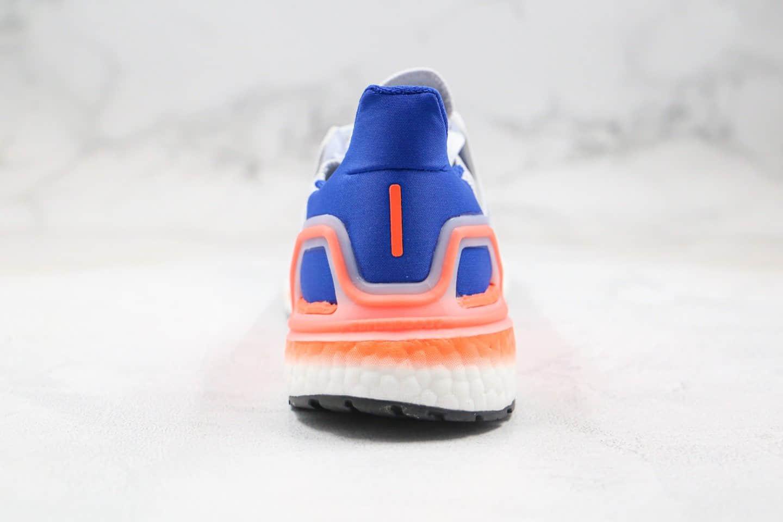 阿迪达斯Adidas UltraBoost 20纯原版本爆米花跑鞋UB6.0白蓝橙色原厂Boost爆米花缓震大底原盒原标 货号:EG0708