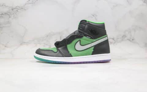 乔丹Air Jordan 1 High Zoom Rage Green公司级版本高帮AJ1黑绿色水晶底正确后跟定型 货号:CK6637-002