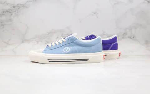 万斯VANS Sid DX纯原版本低帮余文乐小V复古拼色日系板鞋篮紫色原厂硫化大底 货号:VN0A4BTXIB