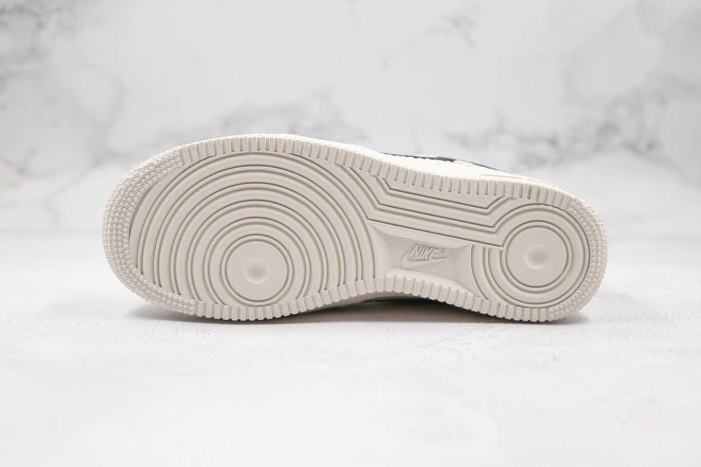 耐克Nike Air Force 1'07 Low Fossil color x Stussy纯原版本斯图西联名款低帮麻布米白色空军一号板鞋原档案数据开发 货号:920788-300