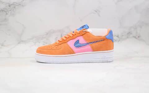 耐克空军一号编织钩橙粉蓝色出货