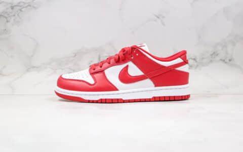 耐克Nike SB Dunk Low ST.JHONS纯原版本低帮肯塔基大学SB板鞋白红色原档案数据开发 货号:CU1727-100