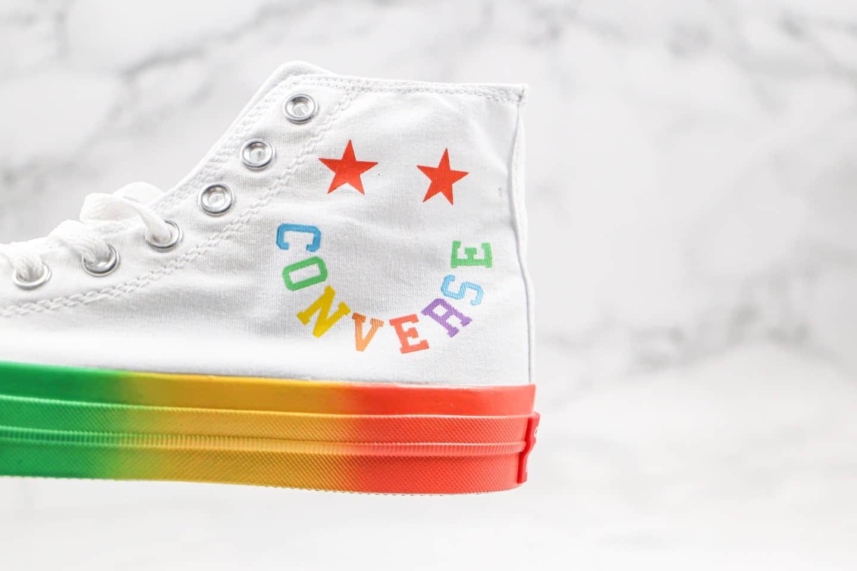 匡威Converse All Star Smiley公司级版本彩虹字母笑脸高帮帆布鞋原厂硫化大底原盒原标