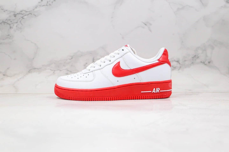 耐克Nike Air Force 1 Low University Red纯原版本低帮空军一号白红色板鞋内置气垫 货号