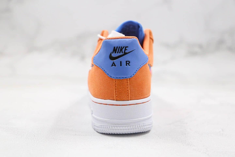 耐克Nike WMNS Air Force 1 '07纯原版本低帮空军一号橙粉蓝色编织格子钩内置气垫 货号:CW7300-800