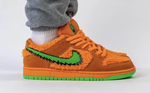 Grateful Dead x Nike SB Dunk Low橙色小熊上脚图释出!吸睛指数爆棚! 货号:CJ5378-300