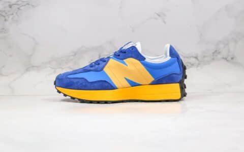新百伦New Balance 327公司级版本NB327慢跑鞋蓝黄色原楦开发 货号:WS327LLK