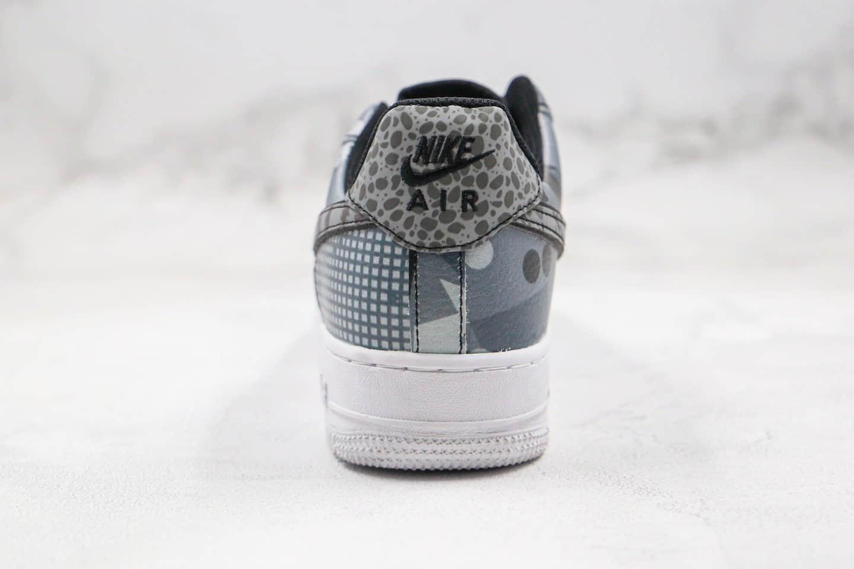耐克Nike Air Force 1 Low City Of Dreams纯原版本低帮空军一号芝加哥豹纹野兽风花纹拼接内置气垫原盒原标 货号:CT8441-002
