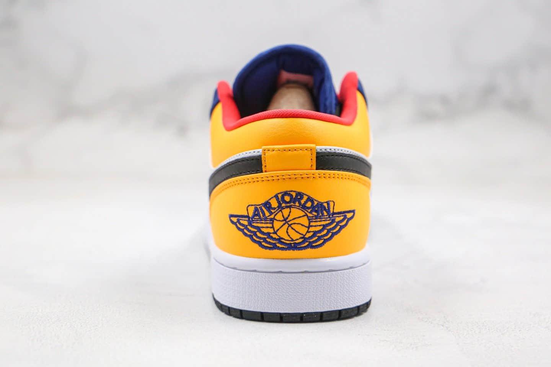 乔丹AIR JORDAN 1 LOW Blue&Yellow纯原版本低帮AJ1蓝柠檬黄配色原档案数据开发正确鞋面材质 货号:553558-123