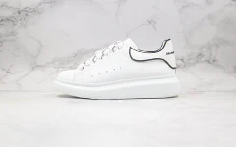 亚历山大Alexander McQueen纯原版本麦昆增高小白鞋白滴胶配色内置芯片正确鞋面材质