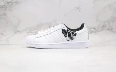 阿迪达斯Adidas Superstar纯原版本三叶草贝壳头板鞋皇家蓝配色原档案数据开发 货号:FV2826