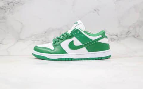 耐克Nike Dunk Low Pro 2020版纯原版本低帮SB DUNK板鞋白绿色内置Zoom气垫原楦头纸板打造 货号:CU1727-102